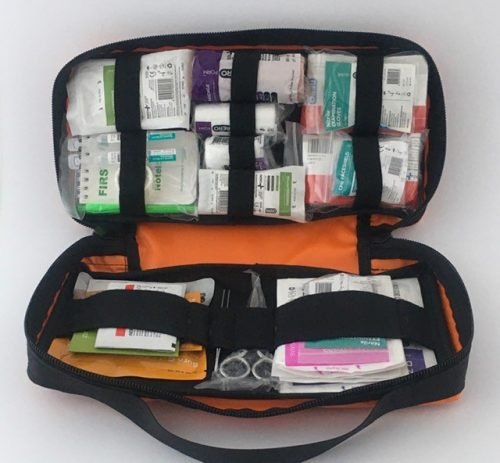 Items displayed in the kit for easy access